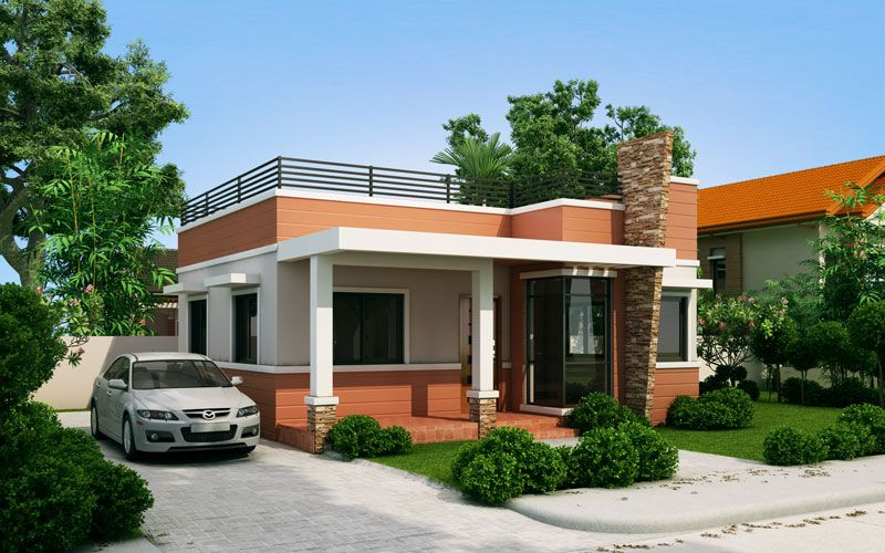 Rommell u2013 One Storey Modern with Roof Deck Pinoy ePlans - Modern - modern small house design
