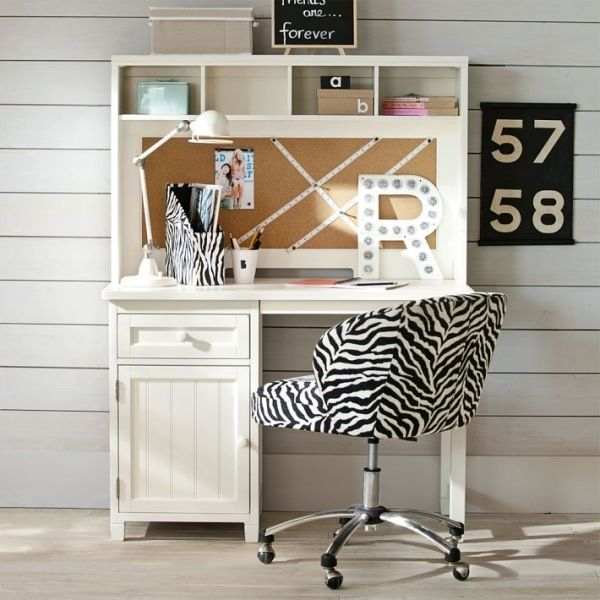 schreibtisch kinderzimmer weiß zebra pinnwand Schreibtisch - ideale schreibtisch im kinderzimmer