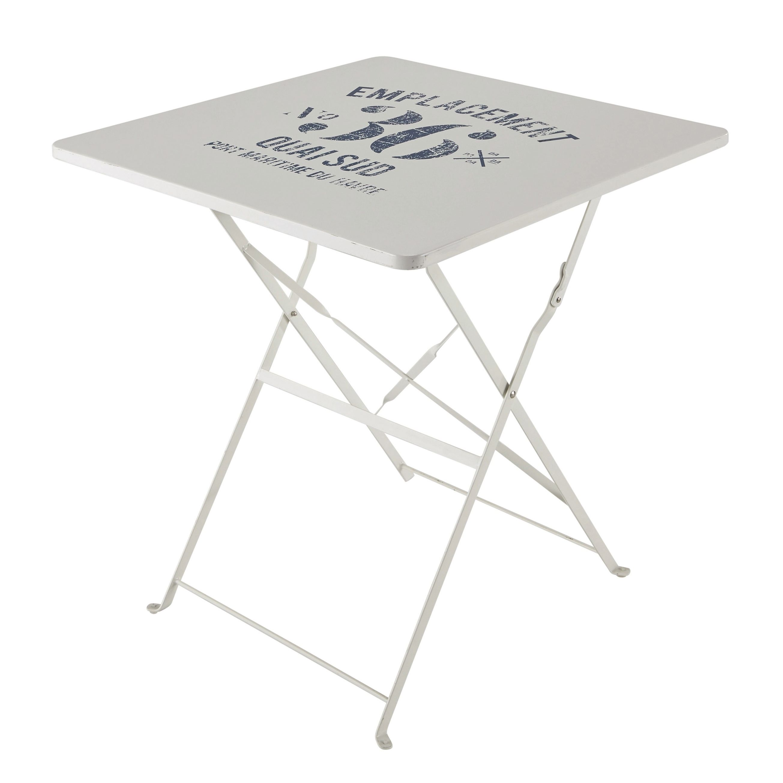 Table Brasserie Castorama Finest Table Pliante De Jardin En Mtal Blanche L Cm