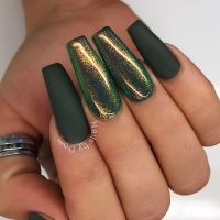 Like this matte dark green? With fairy dust effect :-)  ...