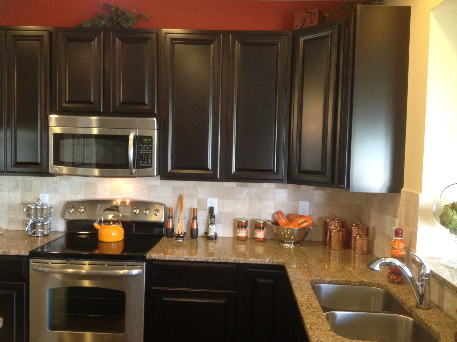 Chrome Tile Backsplash Wonderful Brown Mosaic Granite Countertop And Stainless