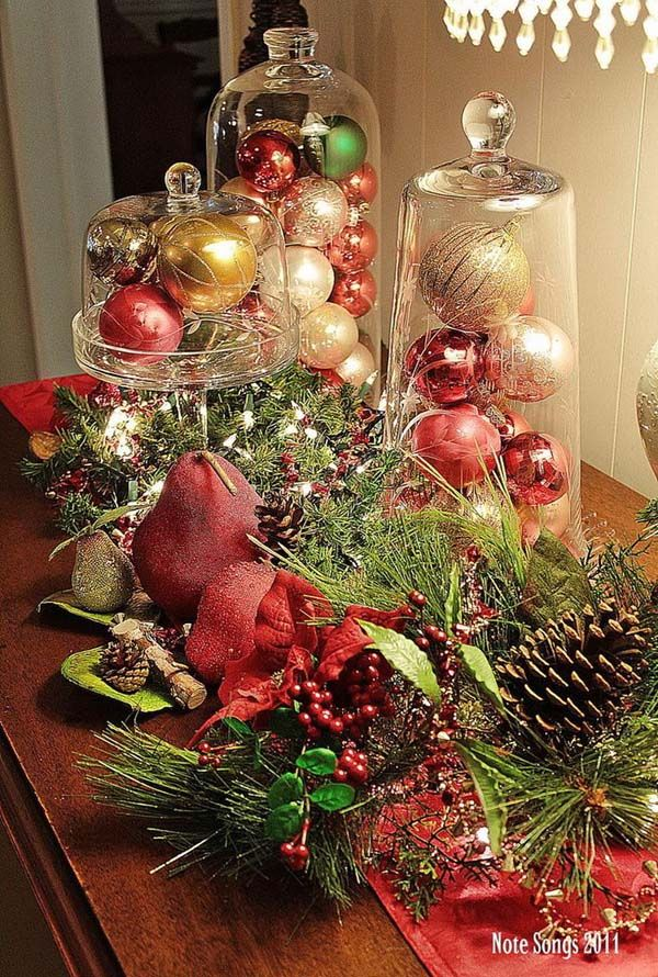 Top 50 Christmas Table Decorations 2017 on Pinterest - christmas table decorations pinterest