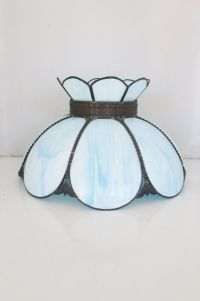 Vintage Glass Lampshade Tiffany Style Stained Slag Glass ...