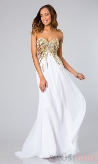 white and gold prom dresses - Google Search | PROM ...