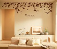 "90"" x 22"" Large Vine Butterfly Wall Decals Removable"