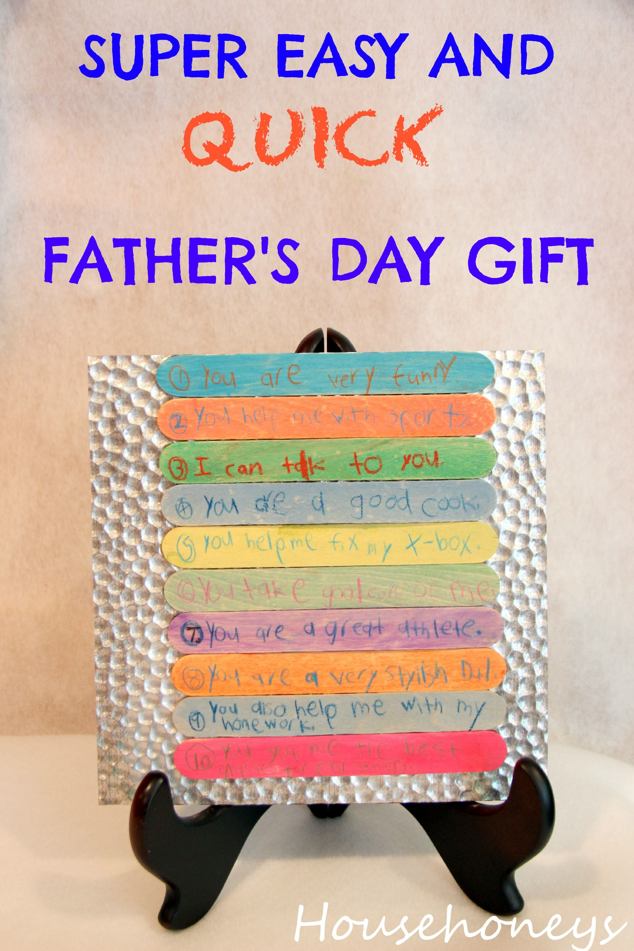 Easy Diy Birthday Gifts For Dad Easy And Cheap Father 39s Day Gift For Kids Diy Gifts