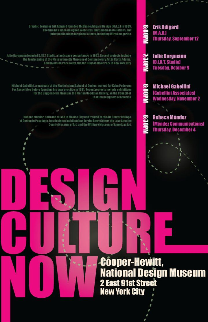 An example of color hierarchy the design culture type in this poster great emphasis