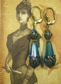 Lady Sybil Earrings - Downton Abbey Jewelry - Edwardian ...
