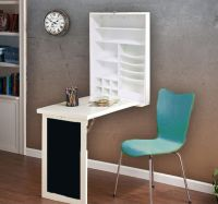 Fold Down Desk Table with Wall Cabinet and Chalkboard ...
