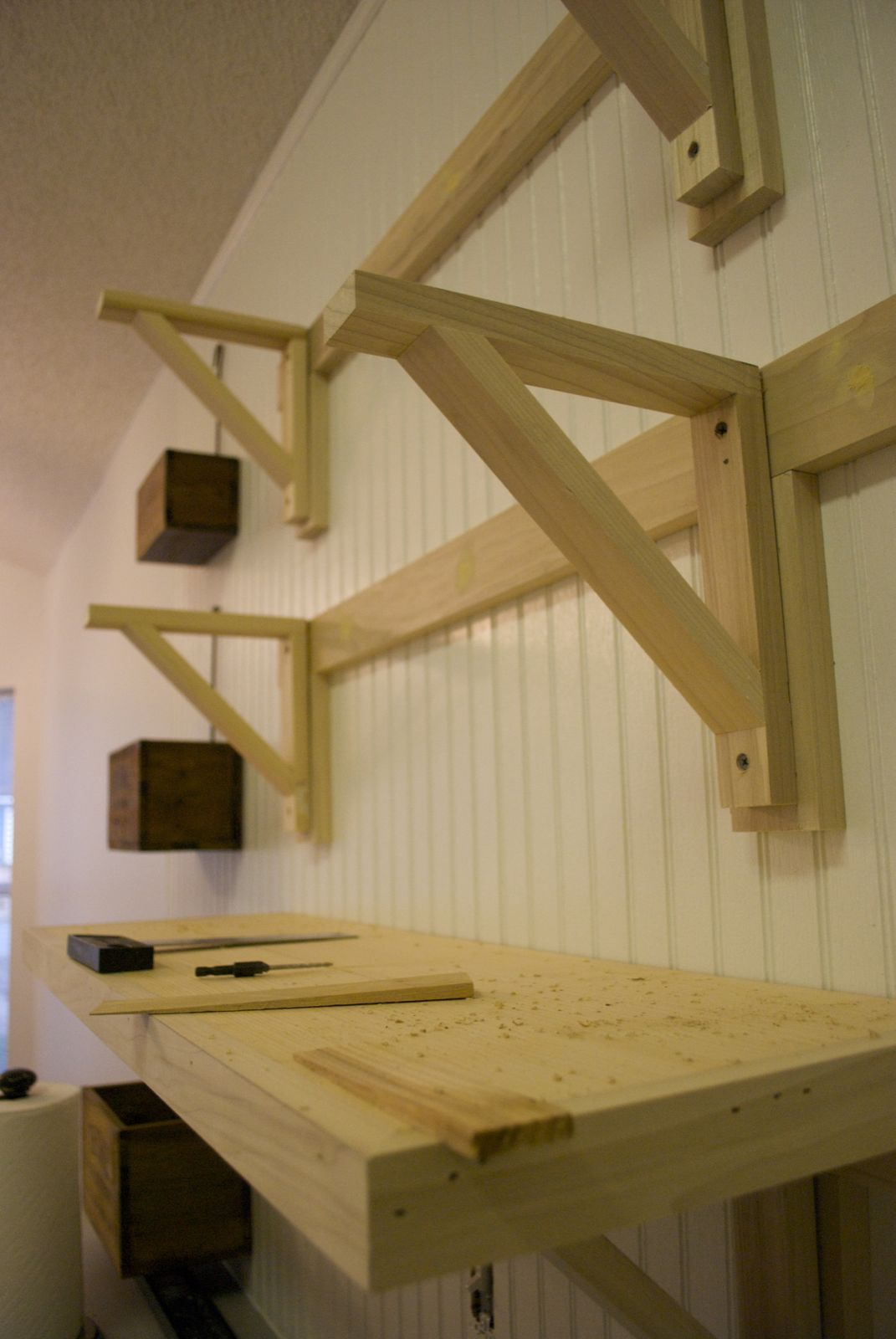 Build Garage Wall Shelves Low Country Living Do A Little Jig Desk Ideas