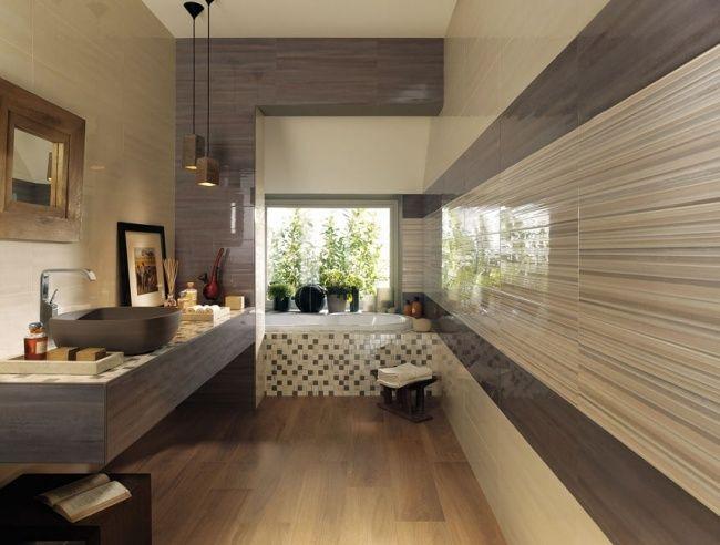 bad fliesen ideen beige braun mosaik poliert fap ceramiche Bad - badezimmer ideen braun beige