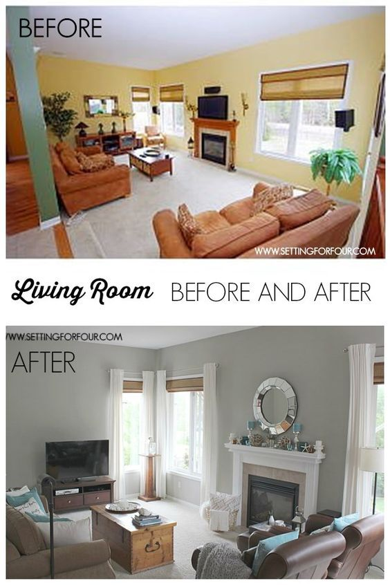 My #QuickandEasy Living Room Before \ After Makeover Sherwin - mindful gray living room