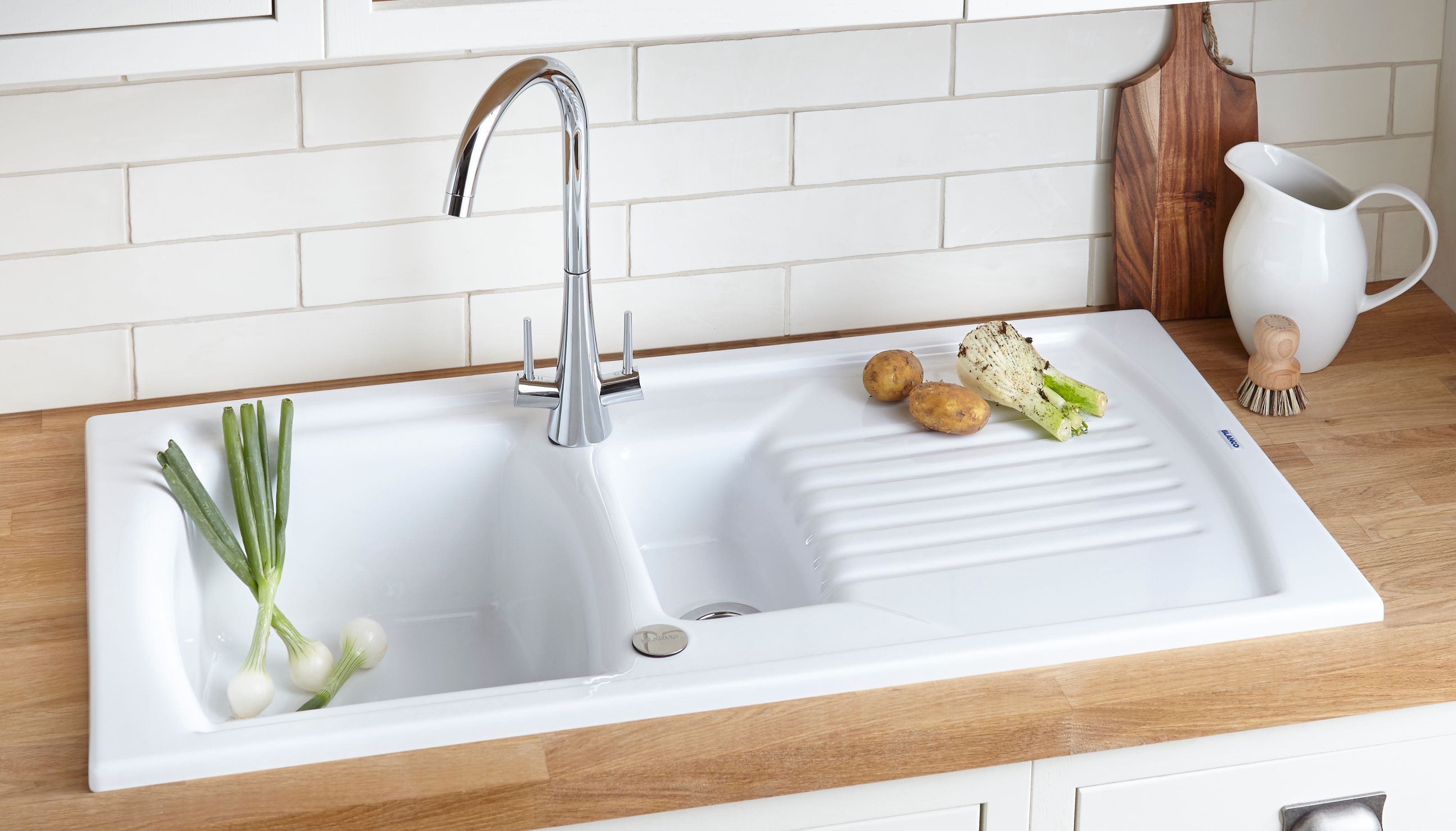 undermount double ceramic kitchen sink cliff kitchen white kitchen sink Harga Wastafel Cuci Piring Keramik Wastafel Pinterest Blanco White Ceramic Kitchen Sink