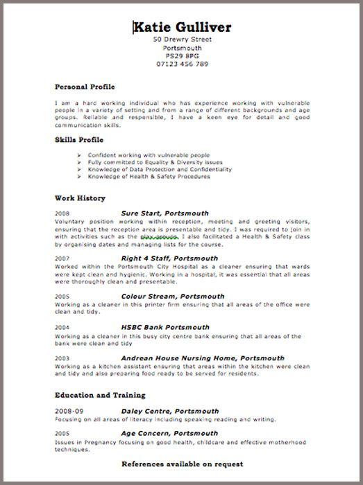 curriculum vitae format graduate financial analyst cv example click to see the pdf version free cv examples templates creative downloadable - Format A Cv