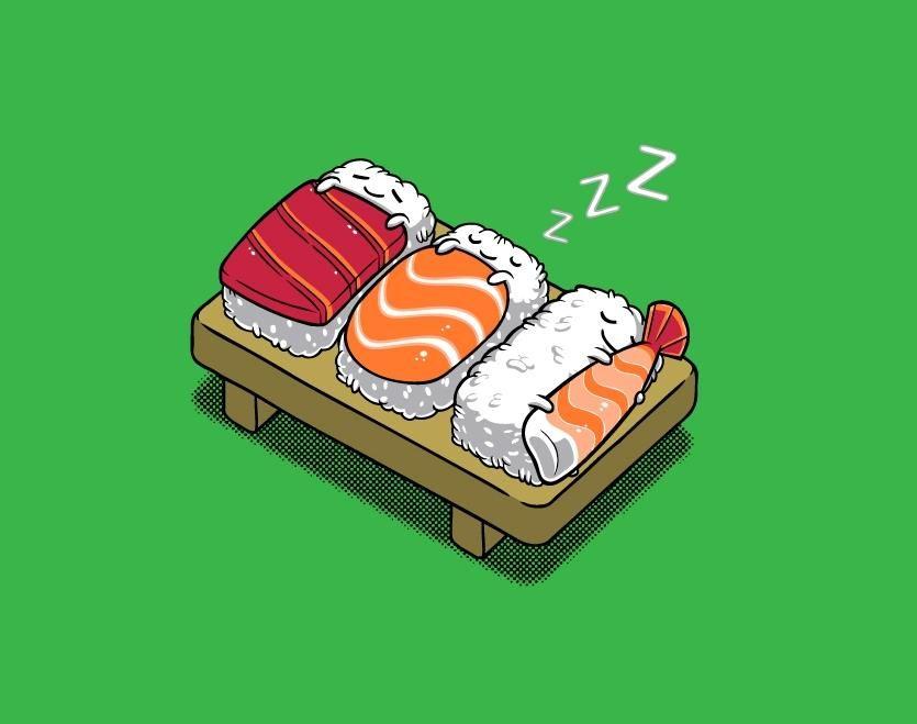 Cute Japanese Cat Wallpaper Cute Sushi Drawing Www Imgkid Com The Image Kid Has It
