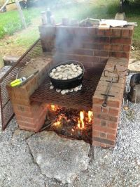 Brick BBQ Pit Smoker Plans | BBQ | Pinterest | Brick bbq ...