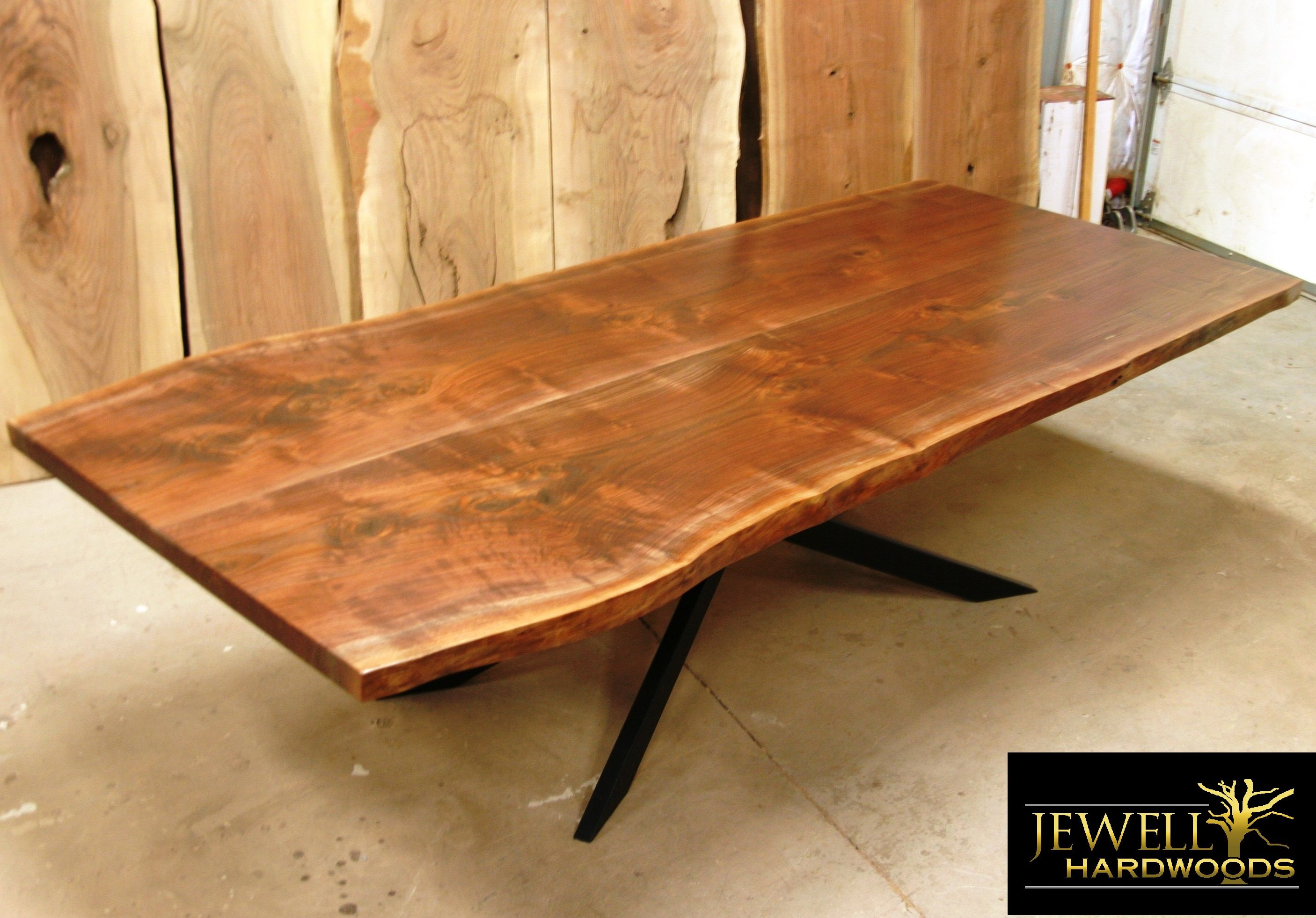 10 Foot Dining Table 10 Ft Black Walnut Book Matched Dining Table With Xavier