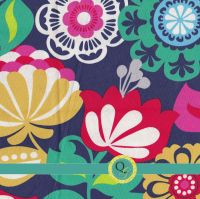 Designer Fabric By the Yard Teal Navy Blue Red Pink Large
