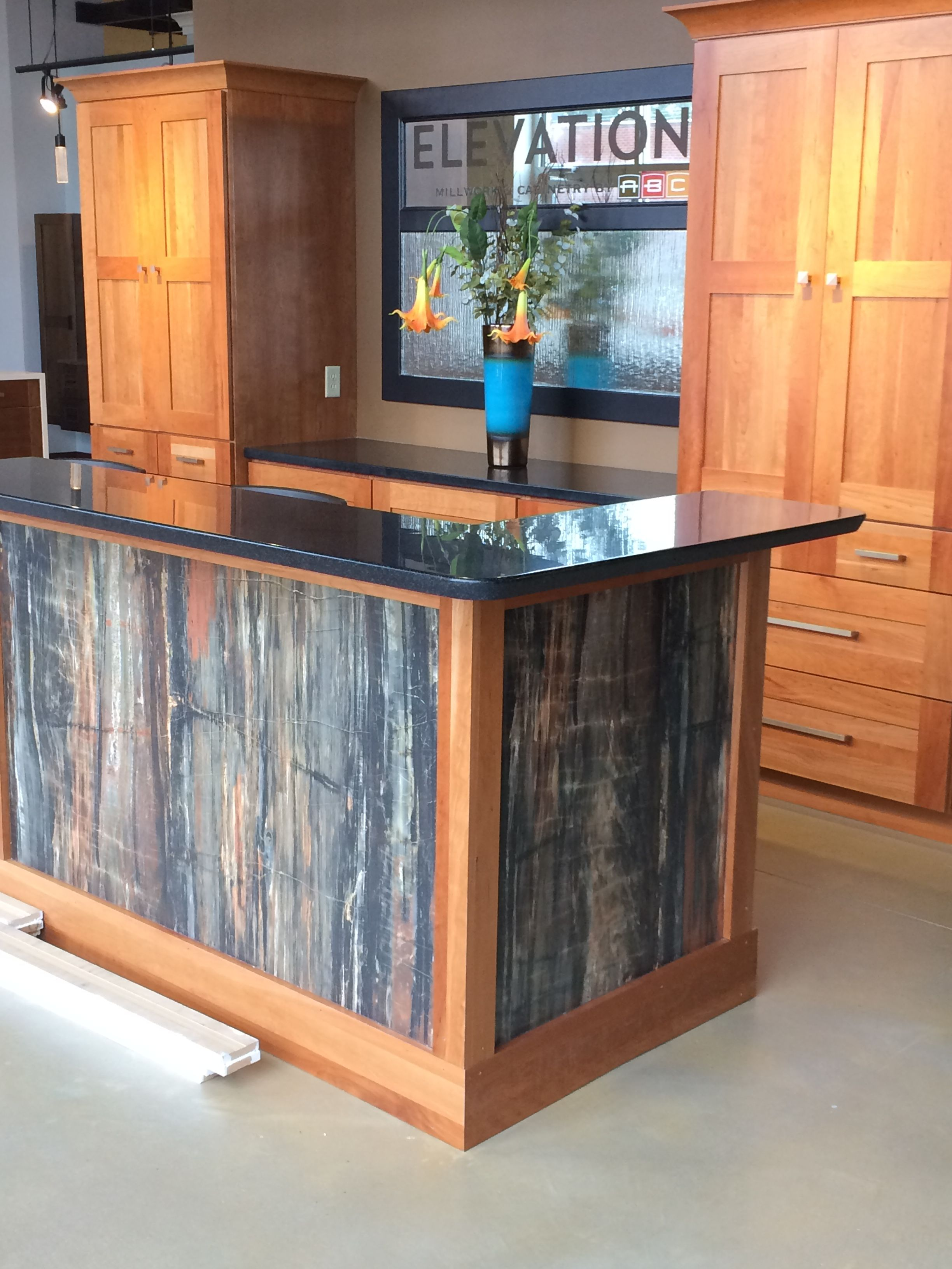 Laminate Countertop Desk Petrified Wood 180fx Formica Reception Desk Formica