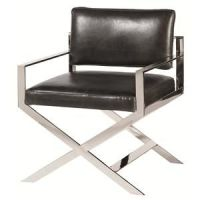 Upholstered Accents Cecil Director's Chair with Metal ...
