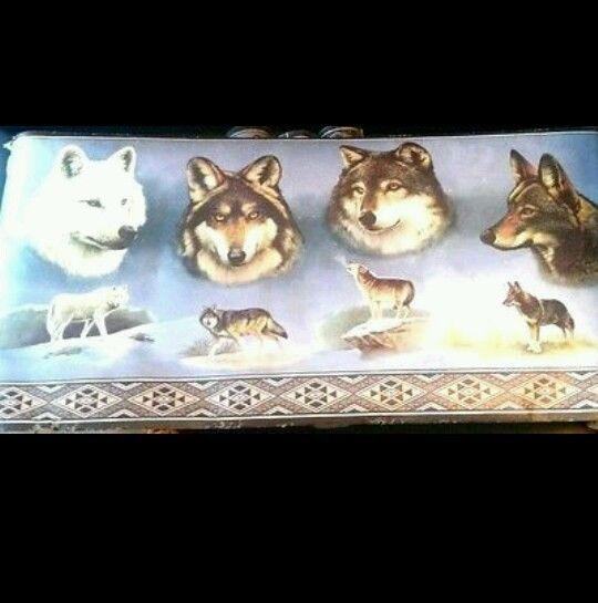 Cheap Sofa Hamilton New Sealed Ducks Unlimited Wolf Wallpaper Border Wolves