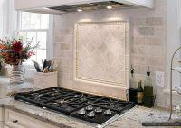 Antiqued 4x4 ivory travertine backsplash tile cabinet ...
