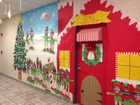 Christmas classroom door. Santa's workshop | My classroom ...