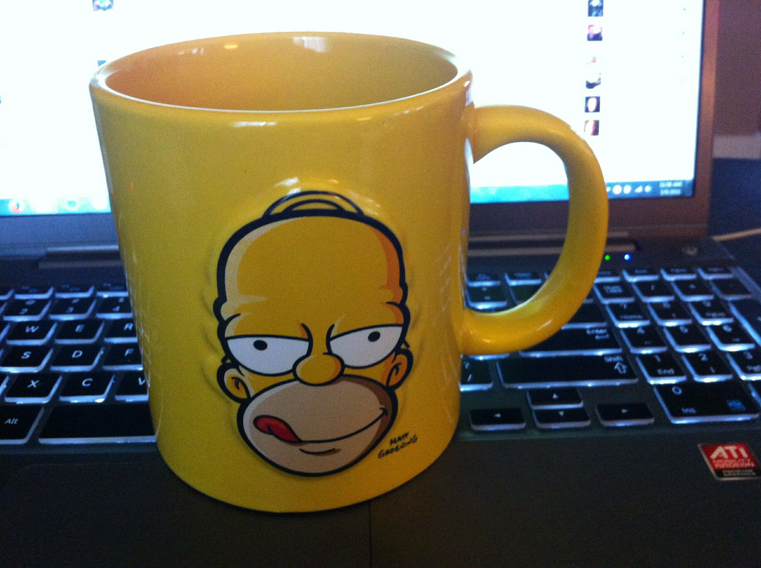 Bettwäsche Simpsons My New Coffee Cup The Simpsons Pinterest Coffee Cup