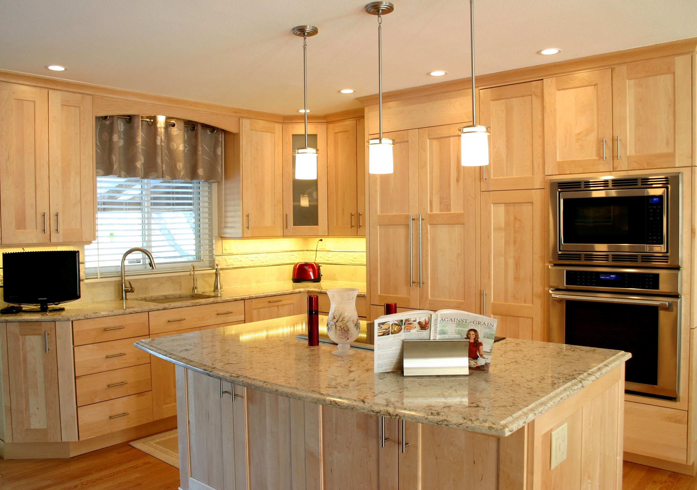 Maple Melamine Kitchen Cabinets Vs Wood Bkc Kitchen And Bath Kitchen Remodel Crystal Cabinet