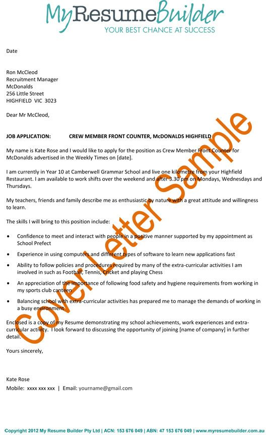 How To Make A Good Cover Letter For A Resume How To Create A Good - example of job cover letter for resume