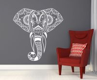 Mandala Elephant Wall Decals Hippie Decal Yoga Vinyl