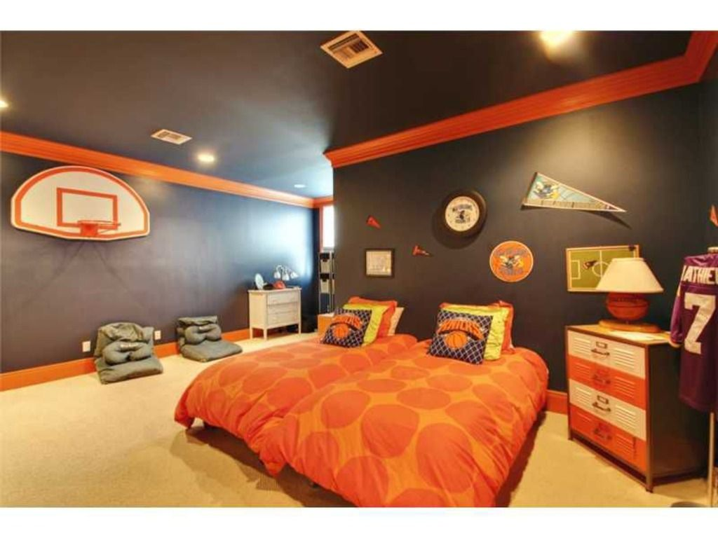 Modern Room Decoration For Boys Carpet Crown Molding Contemporary Basket Ball Boy 39s