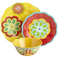 Sunny Floral Melamine Dinnerware for fresh and colorful ...