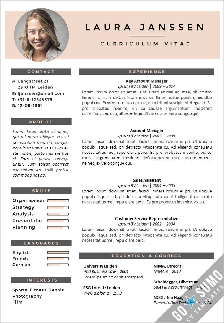 Creative cv template Fully editable in Word and PowerPoint - cv template word
