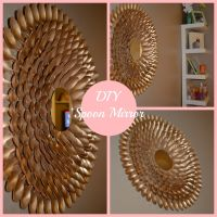 DIY Spoon Mirror Wall Decor   DIY's   Pinterest   Spoon ...