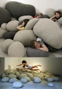Rock Pillows - great for a sensory corner for kids ...