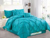 6-Pc Diamond Pinched Pleated Ruffled Pintuck Comforter Set ...