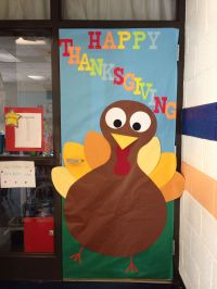 Turkey thanksgiving classroom school door decoration fall