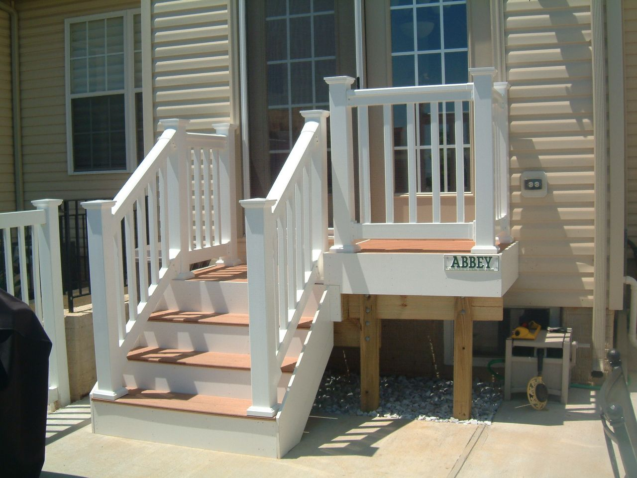 Achterdeur Hardhout Small Deck Steps Google Search Outdoors Pinterest