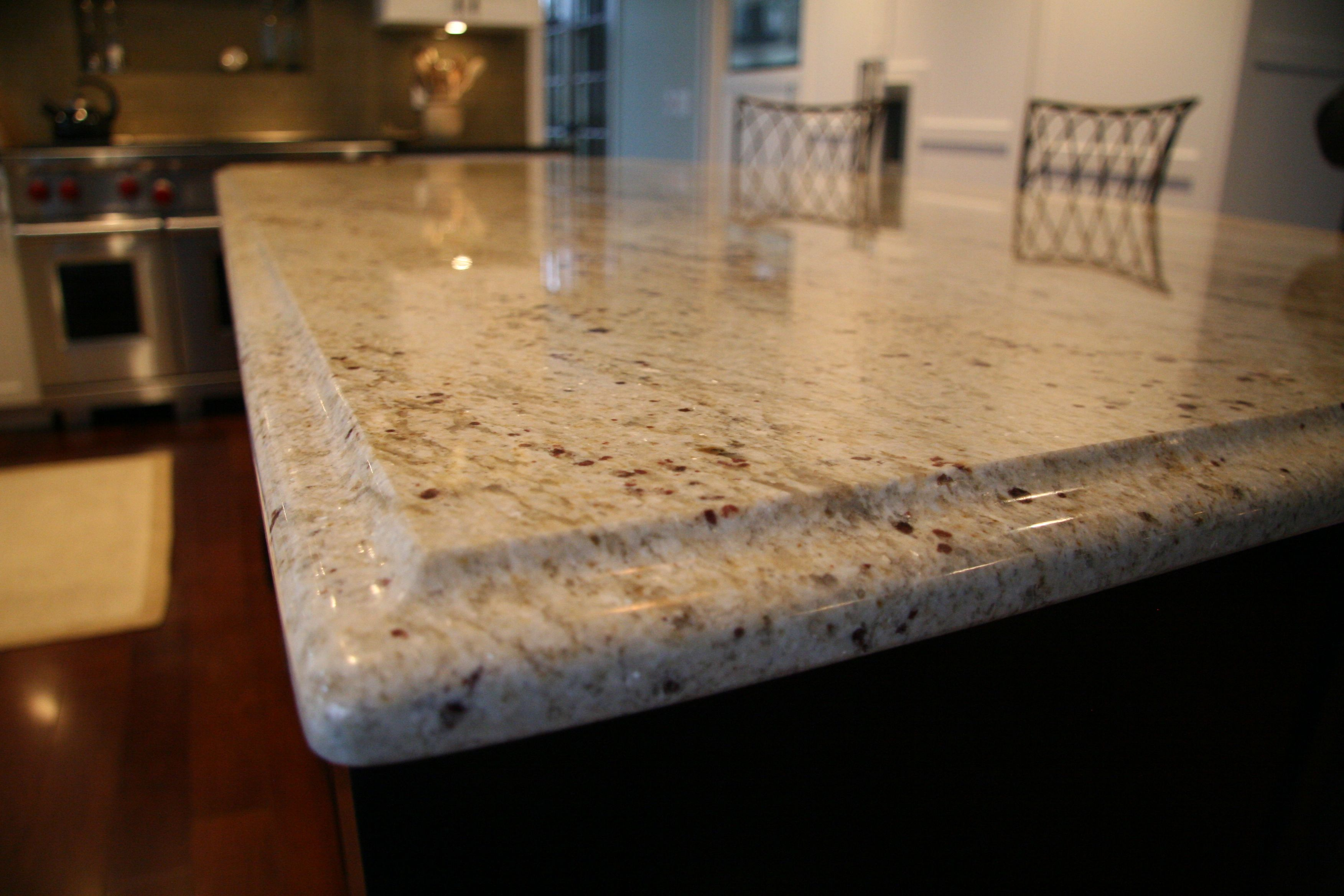 Granite Edges Colonial Cream Granite Island Counter With Ogee Edge