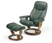 Stressless Recliners Consul Recliner and Ottoman by ...