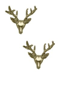 Wildfox Couture Jewelry Gold Stud Deer Earrings | Jewelry ...