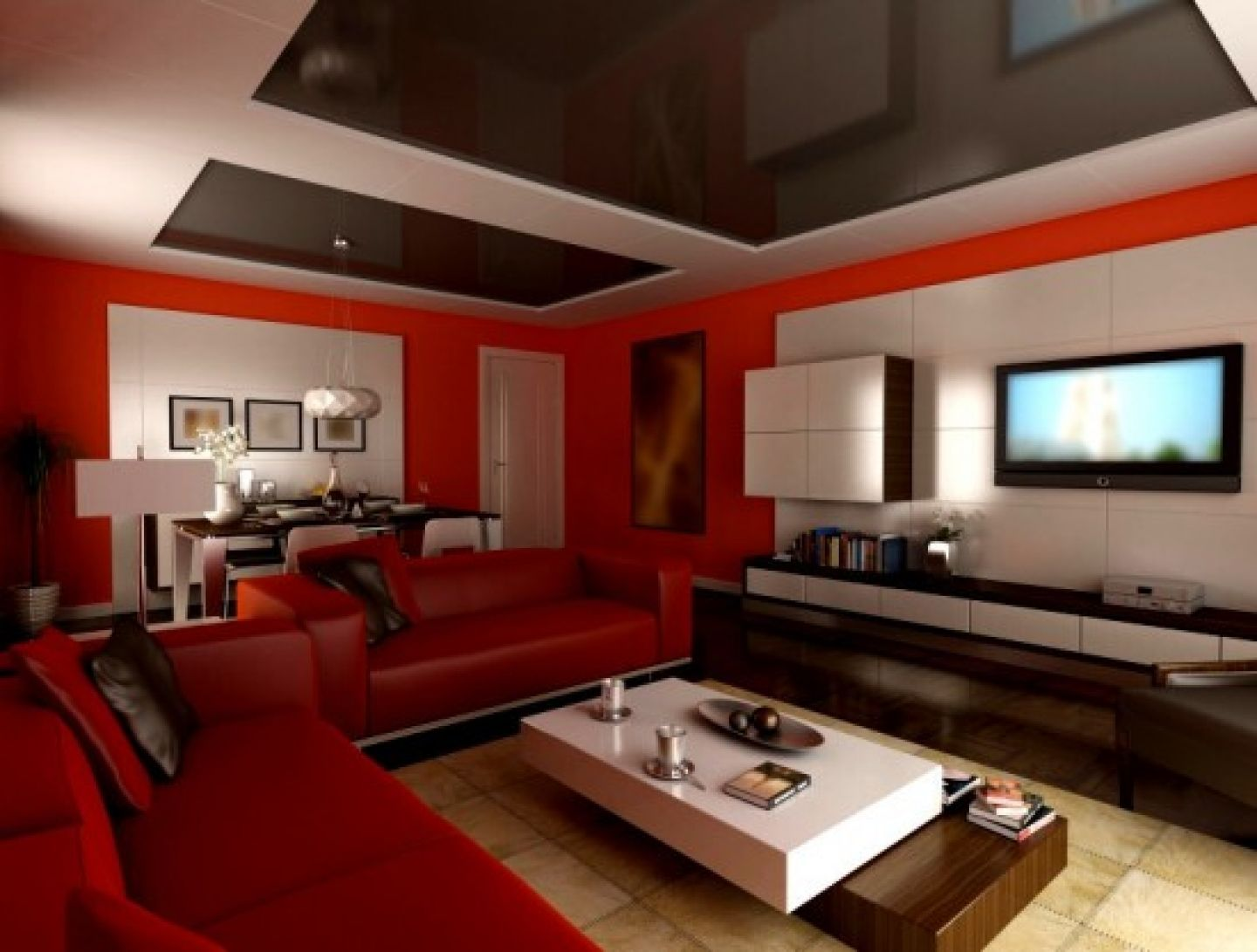 Design living room paint colors ideas modern red white living room with red sectional sofa and