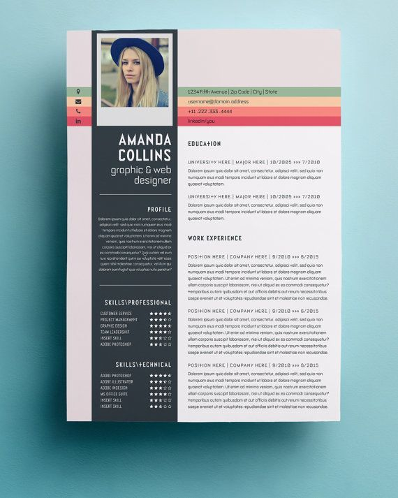 Resume Template Professional, Creative and Modern Resume Design - graphic design resume templates