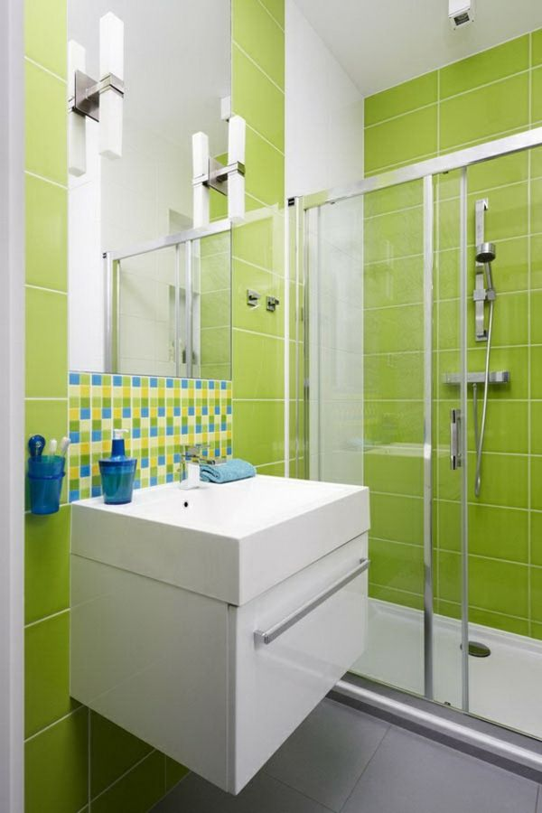Grüne Fliesen Badezimmer