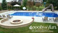 Inground Pools Photos | Pools of Fun Fire pit idea ...