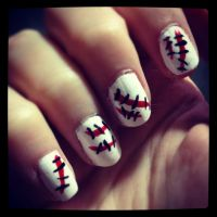 Halloween nails. Very simple and easy to do!   Halloween ...