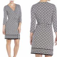 MAX STUDIO Printed Wrap Dress Dress Features: V-neck ...