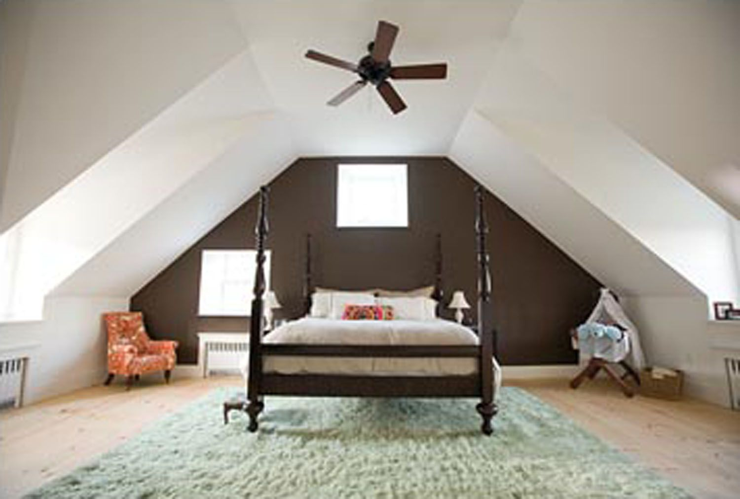 Bed Suspended From Ceiling Attic Bedrooms With Slanted Walls Home Design