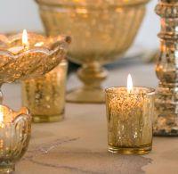 Gold Mercury Glass Votive Candle Holder - David Tutera -2 ...